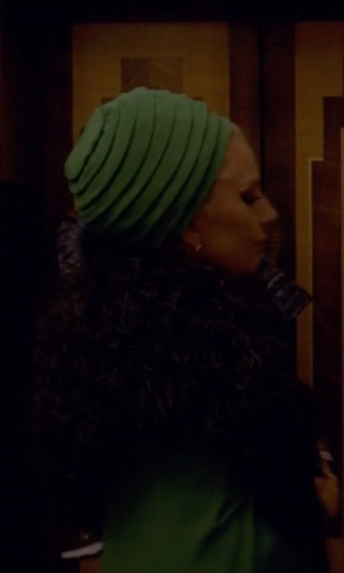 Lady Gaga with Ladybug Wrap Stretch Turban in American Horror Story