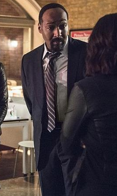 Jesse L. Martin with Zegna Wool Two-Button Suit in The Flash