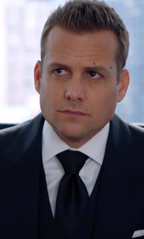 Gabriel Macht with Boss Textured Silk Tie in Suits