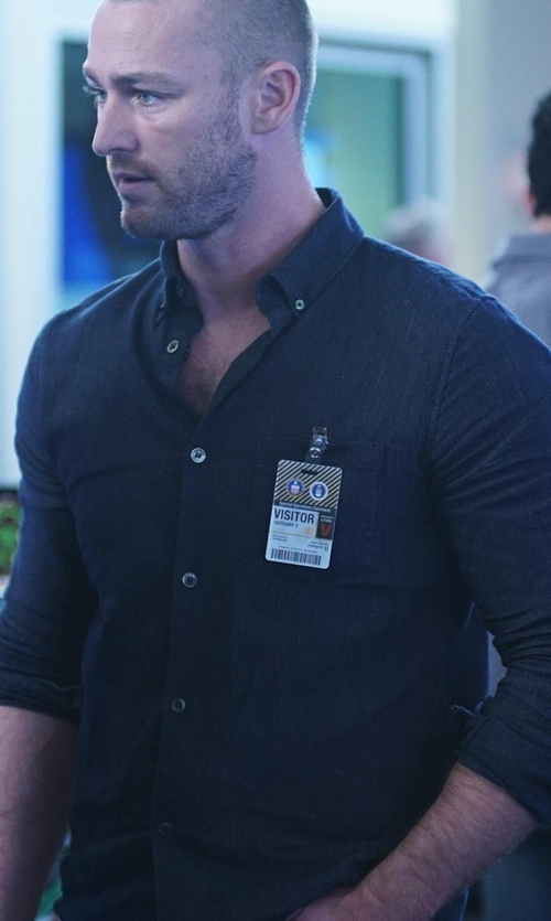 Jake McLaughlin with Rag & Bone Brushed Cotton Sport Shirt in Quantico