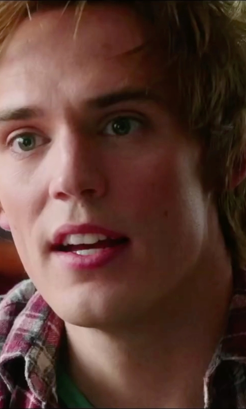 Sam Claflin with United By Blue Rothwell Plaid Shirt in Love, Rosie