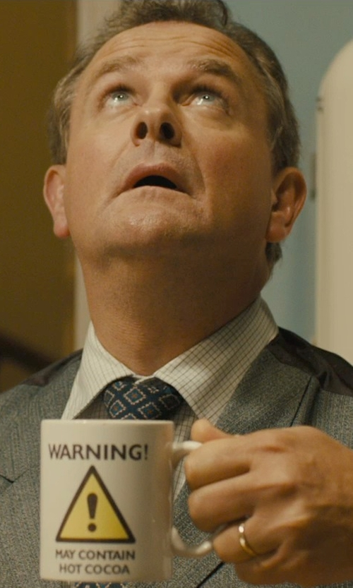 Hugh Bonneville with Zazzle Home Warning Biohazard Symbol Coffee Mug in Paddington