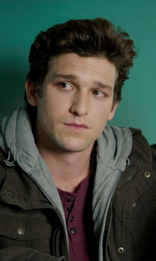 Daren Kagasoff with Big Star Eitan Long Sleeve Henley in Ouija