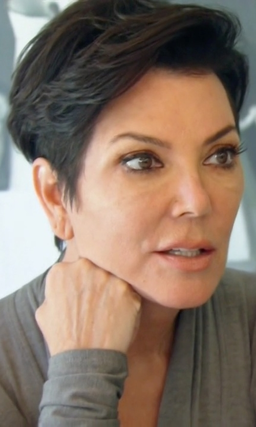 Kris Jenner with Sandro Gyselle Lace Back Cardigan in Keeping Up With The Kardashians
