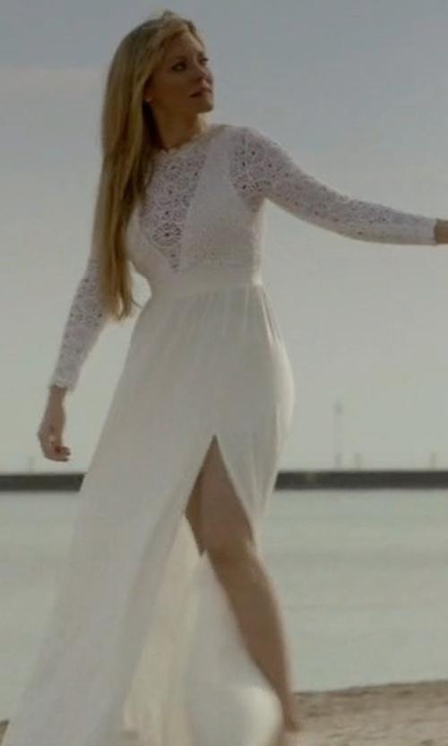 Kaitlin Doubleday with Nightcap x Carisa Rene Angelic Gown in Empire