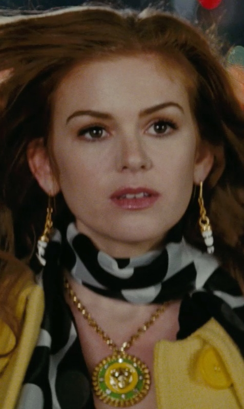 Isla Fisher with Versace Large Medalion Pendant Necklace in Confessions of a Shopaholic