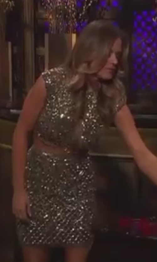 JoJo Fletcher with Mac Duggal Two Piece Beaded Dress in The Bachelorette
