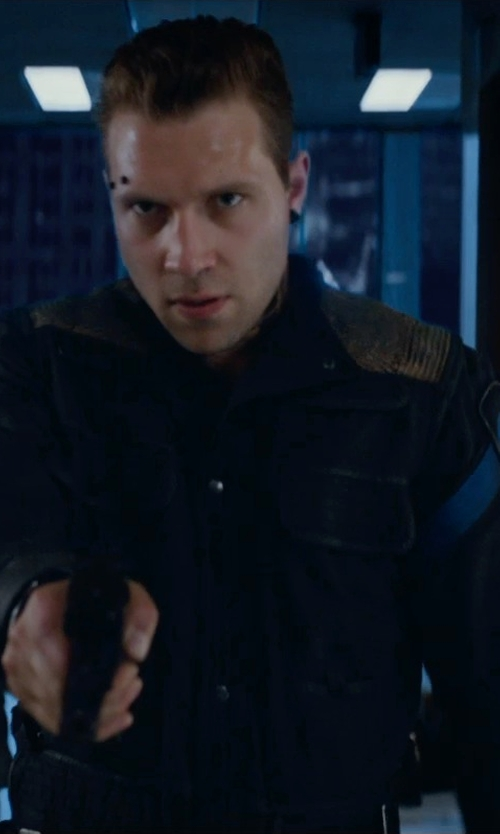 Jai Courtney with Carlo Poggioli (Costume Designer) Custom Made 'Dauntless' Battle Uniform Jacket (Eric) in The Divergent Series: Insurgent