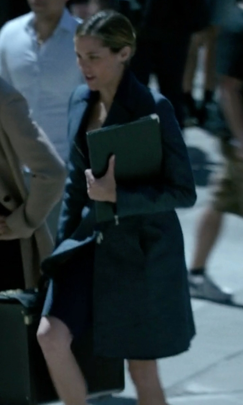Susie Abromeit with Stefanel Single Breasted Coat in Jessica Jones