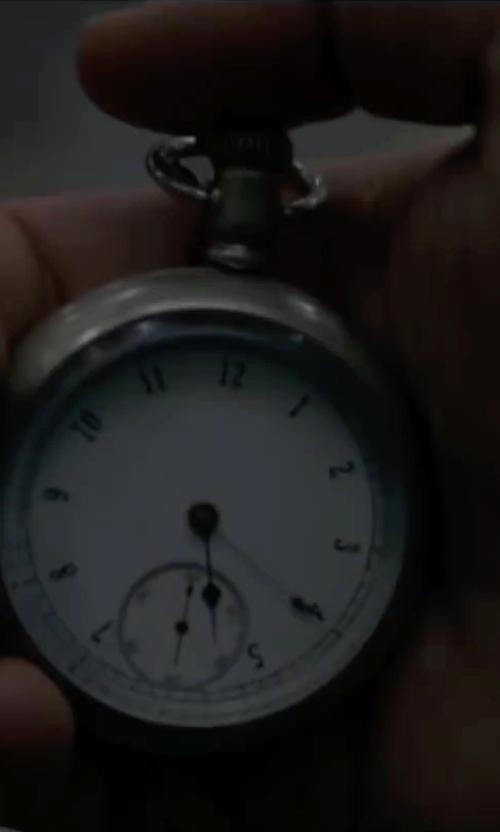 Joseph Gordon-Levitt with Rapport London Silver Tone Pocket Watch in The Walk
