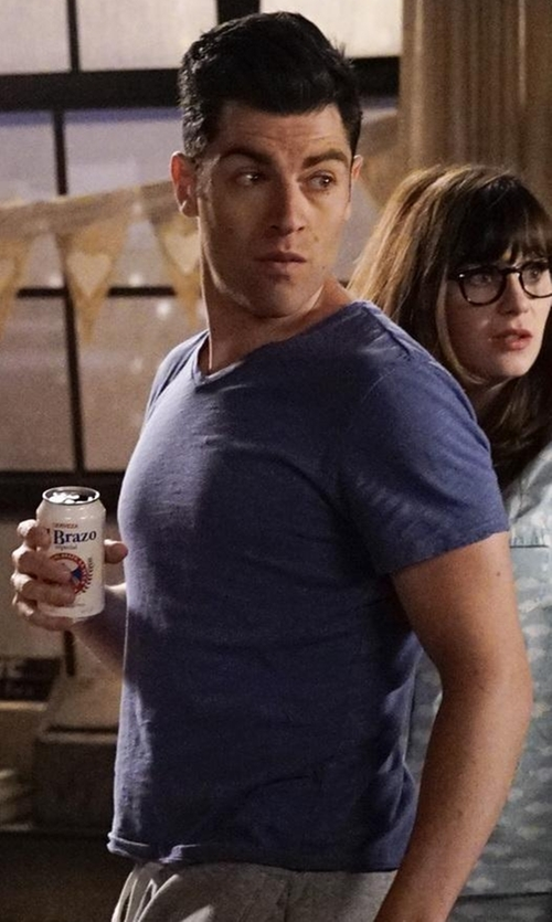 Max Greenfield with Reigning Champ  Raglan T-Shirt in New Girl