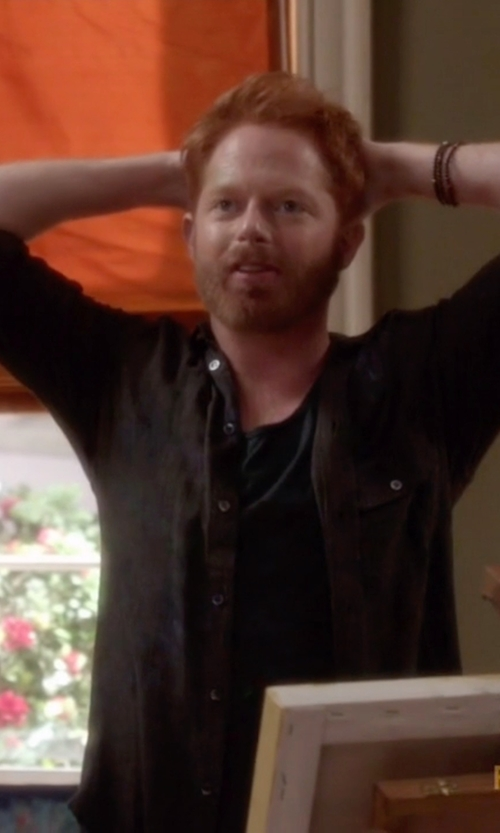Jesse Tyler Ferguson with Icon Brand Plaited Leather Bracelet in Modern Family