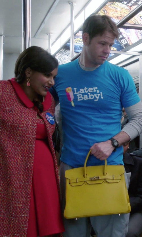 Mindy Kaling with Marc Jacobs Handbag in The Mindy Project