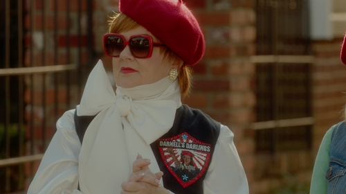 Melissa McCarthy with Jimmy Choo Silk Woven Jacquard Crepe Scarf in The Boss