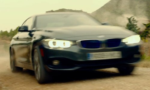 Sean Penn with BMW 435i Sedan in The Gunman