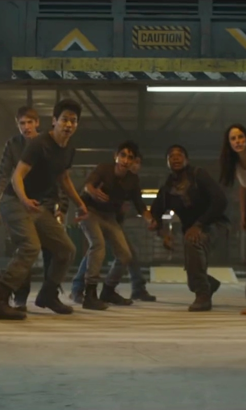 Bryce Romero with Aldo Jervais Combat Boots in Maze Runner: The Scorch Trials