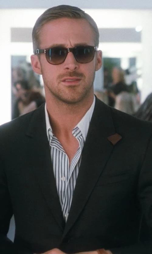Ryan Gosling with Stefano Ricci  Contrast-Collar Striped Dress Shirt in Crazy, Stupid, Love.