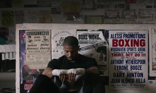 Michael B. Jordan with Front Street Gym Philadelphia, Pennsylvania in Creed