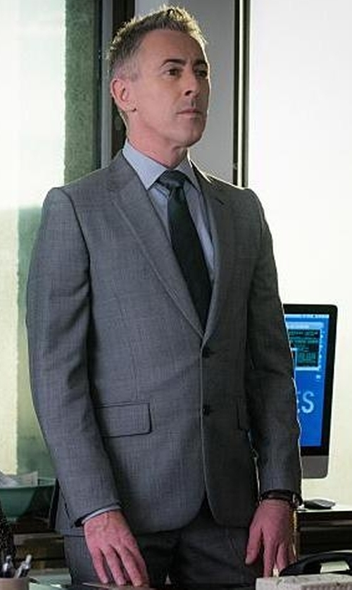 Alan Cumming with Ralph Lauren Black Label Anthony Sharkskin Suit in The Good Wife