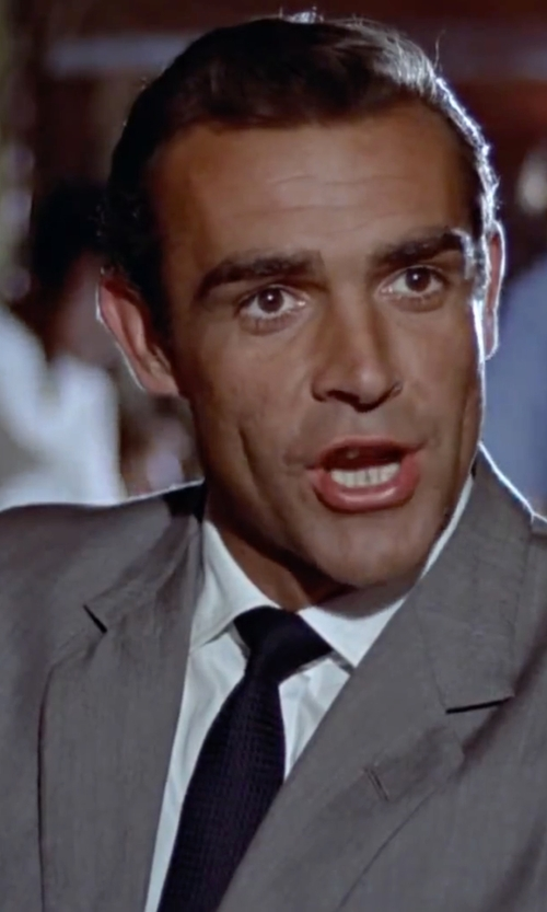 Sean Connery with John Varvatos U.S.A. Textured Silk Tie in Dr. No