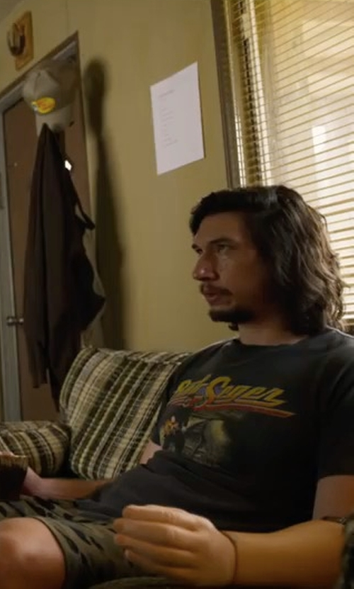 Adam Driver with Stussy Camo Beach Short in Logan Lucky