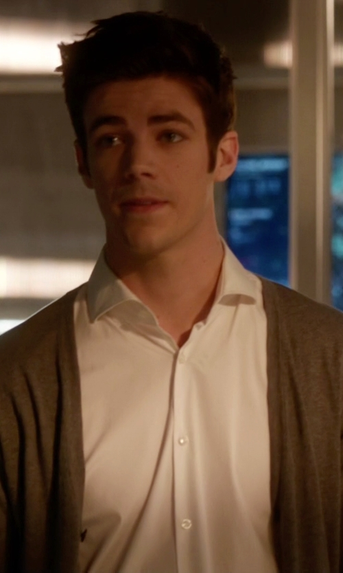 Grant Gustin with Apolis Alpaca Blend Cardigan in The Flash