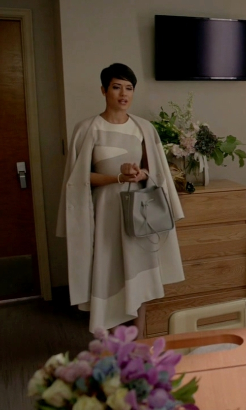 Grace Gealey with 3.1 Phillip Lim Soleil Small Bucket Bag in Empire