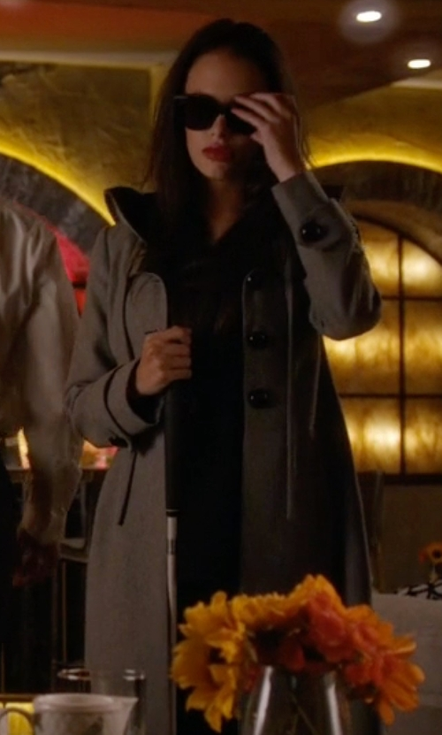 Tammin Sursok with Burberry Brit Removable Hood Balmoral Trenchcoat in Pretty Little Liars