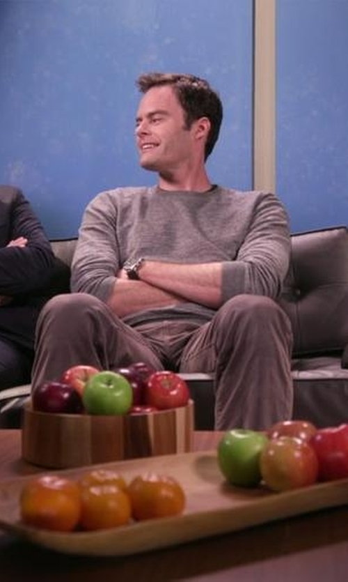 Bill Hader with Topman Longline Crew Neck Sweater in Chelsea