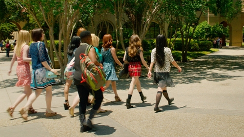 Ester Dean with Jansport Agave Backpack in Pitch Perfect 2