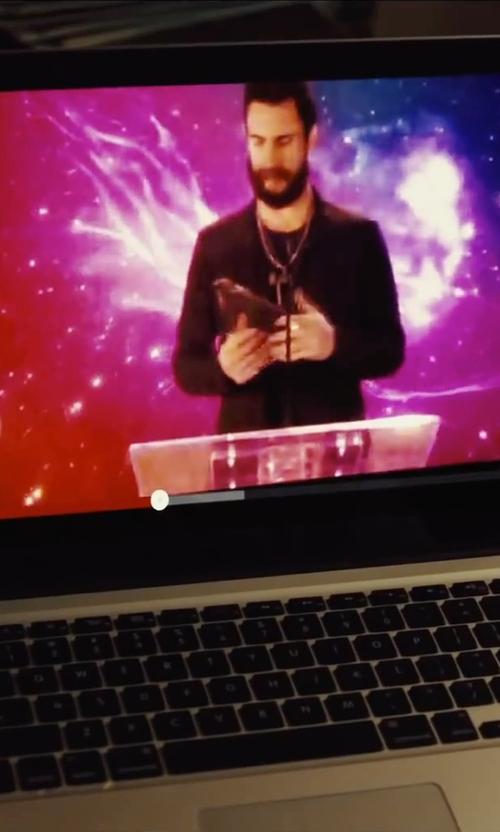 James Corden with Apple MacBook Pro Laptop in Begin Again