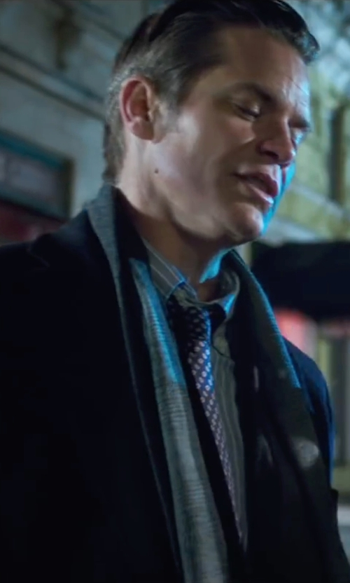 Timothy Olyphant with Ted Baker London Dot Silk Tie in Snowden