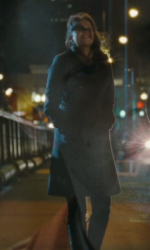Rebecca Hall with Santoni Knee Length Block Heel Boots in The Town