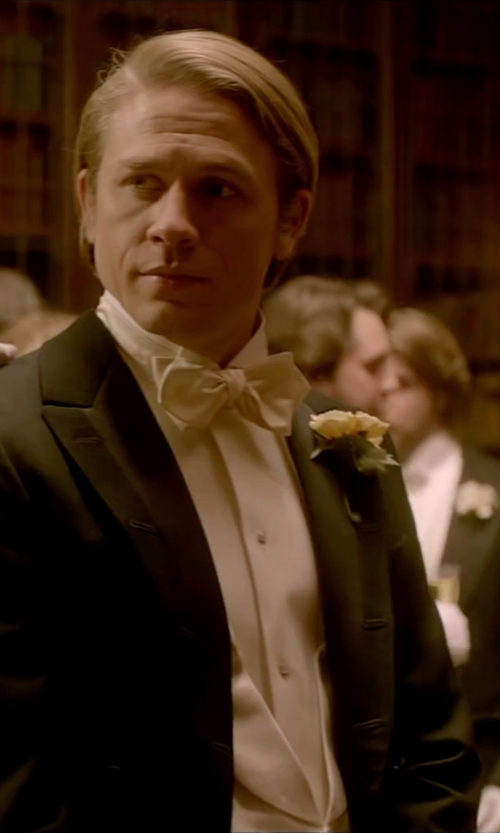 Charlie Hunnam with Dolce & Gabbana Classic Bow Tie in Crimson Peak