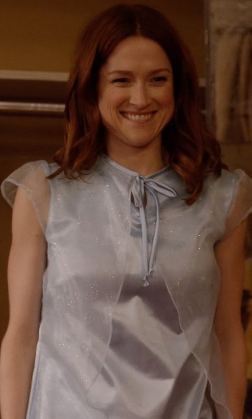 Ellie Kemper with Columbustore Silky Ruffle Nightgown in Unbreakable Kimmy Schmidt
