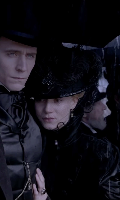 Mia Wasikowska with SS/Hat Fancy Bow & Feather Sinamay Hat in Crimson Peak