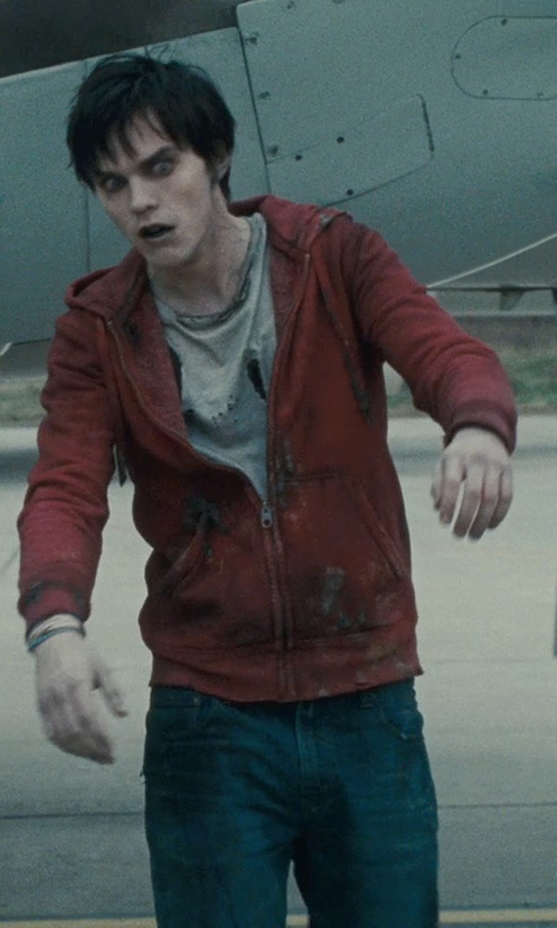 Nicholas Hoult with Carhartt Hoodie Jacket in Warm Bodies