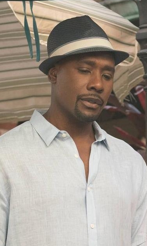 Morris Chestnut with Barbisio Felt Ribbed Fedora Hat in Rosewood