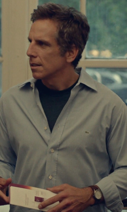Ben Stiller with Marc by Marc Jacobs 'Fergus' Leather Strap Watch in While We're Young