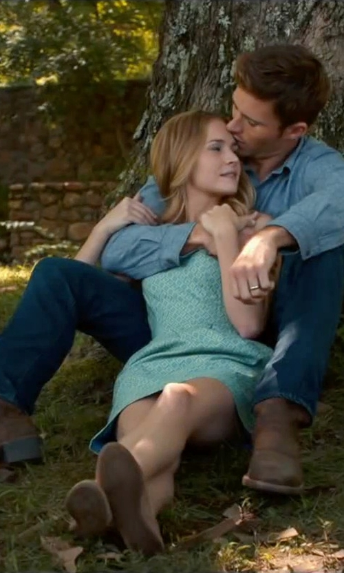 Scott Eastwood with Alexander Mcqueen Straight Leg Denim Pants in The Longest Ride