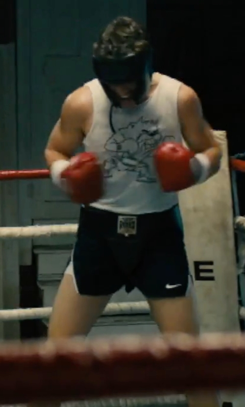 "Miles Teller with Nike Men's 2"" Tempo Split Running Shorts in Bleed for This"