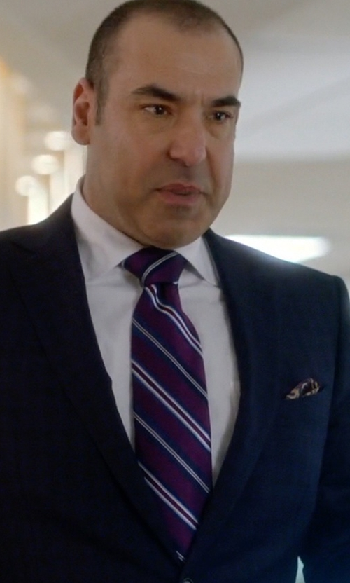 Rick Hoffman with Barneys New York Mixed-Stripe Jacquard Silk Neck Tie in Suits
