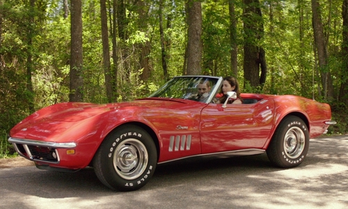 James Marsden with Chevrolet 1969 Corvette Convertible in The Best of Me