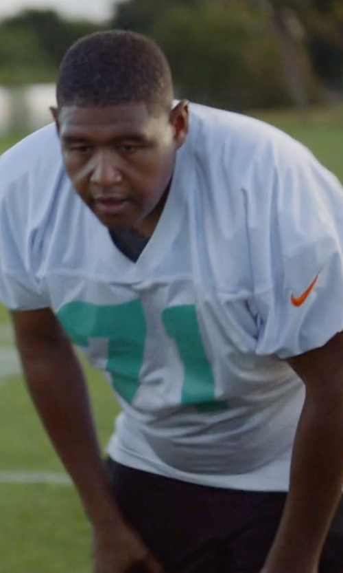 Omar Benson Miller with Nike Miami Dolphins Customized Jersey Shirt in Ballers