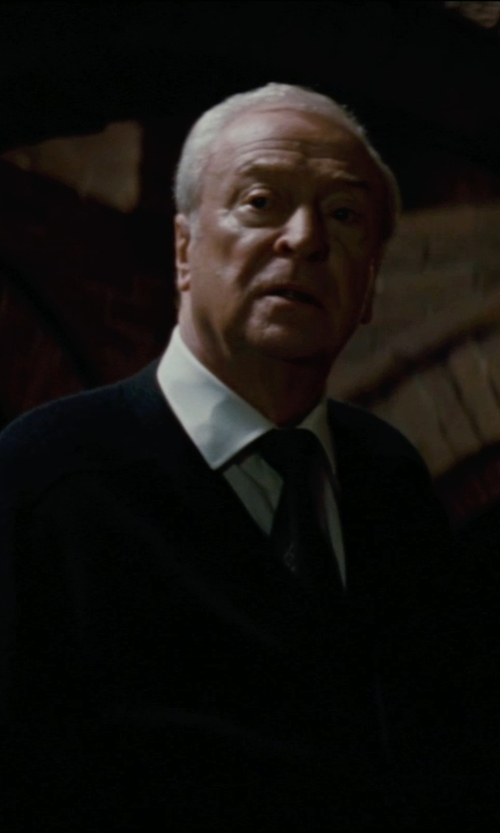 Michael Caine with Giorgio Armani Custom Made Dress Shirt  (Alfred) in The Dark Knight Rises