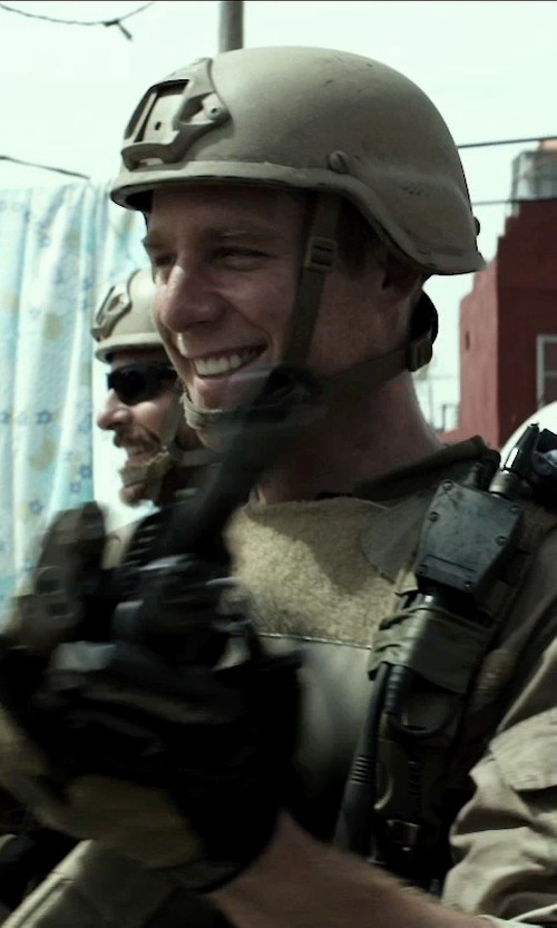 Jake McDorman with Airsoft MICH TC-2000 ACH Replica Helmet in American Sniper