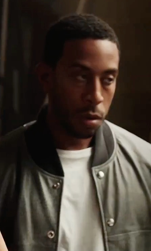Ludacris with Valstar Valstarino Washed-Suede Bomber Jacket in The Fate of the Furious