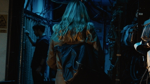 Julia Stiles with Penfield Lexington Hooded Mountain Parka Jacket in Jason Bourne