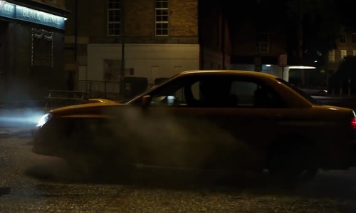 Taron Egerton with Subaru WRX STI in Kingsman: The Secret Service
