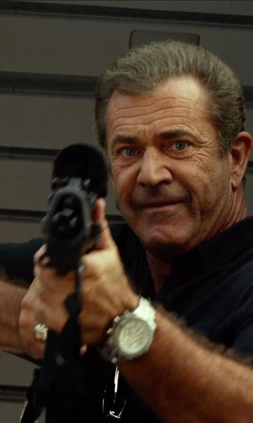 Mel Gibson with Breitling Chrono Avenger M1 Watch in The Expendables 3